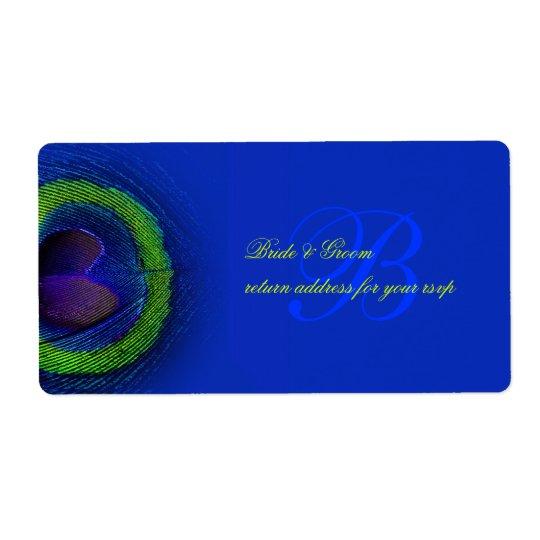 PixDezines peacock eye cobalt blue Label