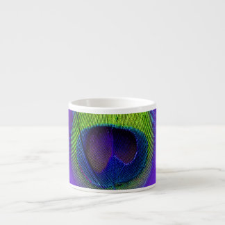 PixDezines Peacock feather/cobalt+purple Espresso Cup