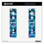 PixDezines peacock feather Skins For Wii Remotes