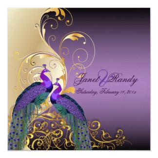 PixDezines Peacock, filigree+swirls/purple/DIY Invitation