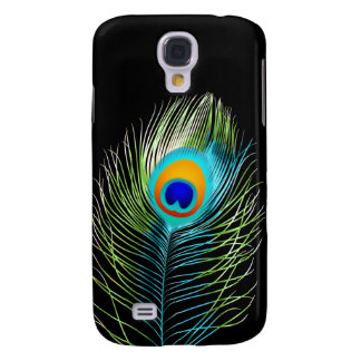 PixDezines peacock plume/diy background color Samsung Galaxy S4 Covers