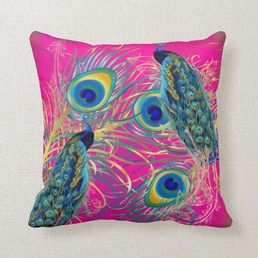 Diy Quote Throw Pillow : PixDezines peacocks/diy background colors Throw Pillow Zazzle