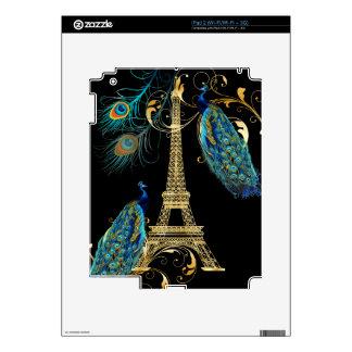 PixDezines peacocks+eiffel tower/DIY background Decals For iPad 2