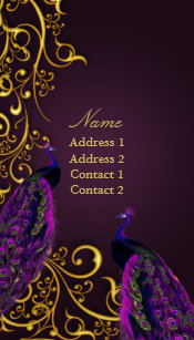 Gilded business cards zazzle pixdezines peacocks on gilded iron swirlsdiy colo business card reheart Images