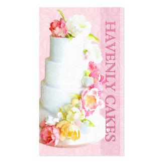 PixDezines peonies wedding cake/diy background Business Card