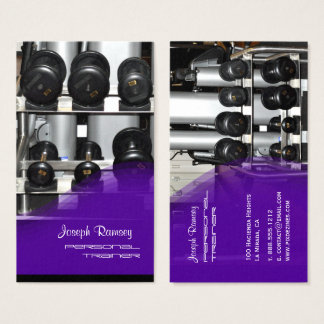 PixDezines Personal Trainer Business Card
