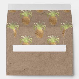 PixDezines Pineapple/Faux Gold/Faux Craft Envelope