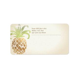 PixDezines Pineapple/Faux Gold Label