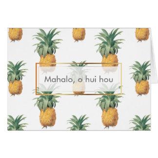 PixDezines Pineapples/Mahalo O Hui Hou Card