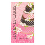 PixDezines Pink + Chocolate Cake/Bakery/pâtisserie Business Card