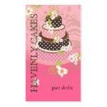 PixDezines Pink + Chocolate Wedding Cake Business Card Template