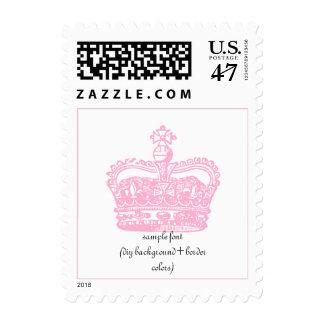 PixDezines pink crown/DIY background color Postage