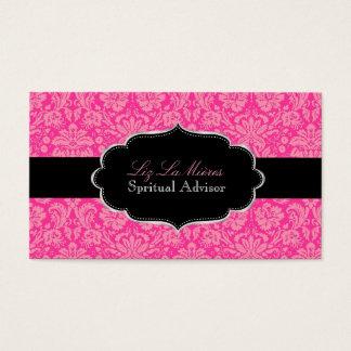 PixDezines Pink Désirée Damask/DIY color Business Card