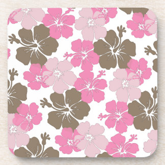 PixDezines pink hibiscus/diy background Coaster