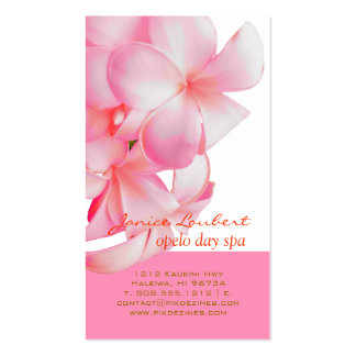 PixDezines pink kona plumeria Business Cards