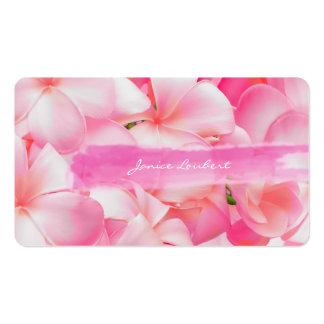 PixDezines pink kona plumeria Business Card Templates
