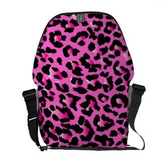 PixDezines Pink Leopard/DIY background color Courier Bag