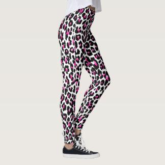 PixDezines Pink Leopard Print Leggings