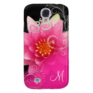 PixDezines Pink Lotus/ Water Lily + Om Galaxy S4 Cover
