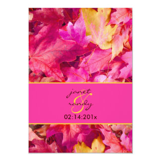 PixDezines Pink Maple Fall Wedding/DIY colors! Card