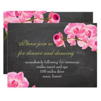PixDezines pink maui orchids/reception cards
