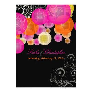 PixDezines pink+orange lanterns Card