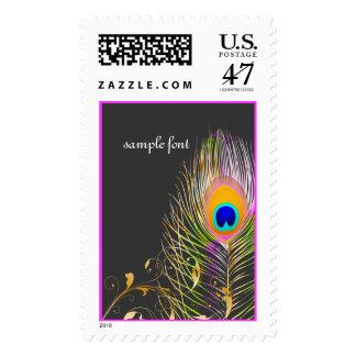PixDezines pink peacock/DIY background color Stamp