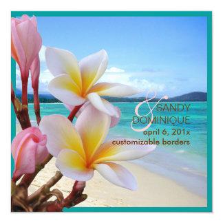 PixDezines Pink Plumeria + Beach Custom Announcements