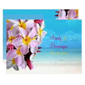 PixDezines PINK PLUMERIA LEI /BEACH WEDDING Card