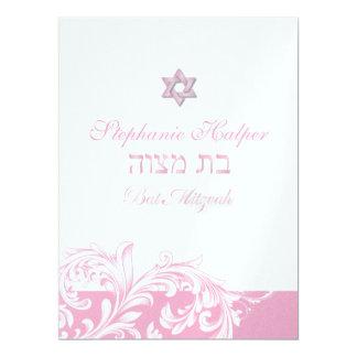 PixDezines pink swirls/Bat Mitzvah/diy background Card