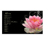 PixDezines pink water lily + pearly swirls Business Cards