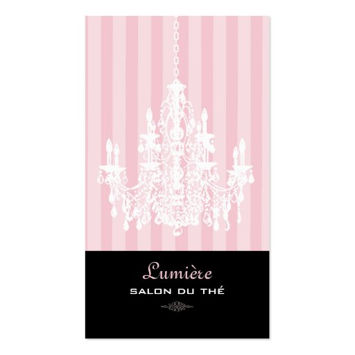 PixDezines Pink+White Chandelier/DIY background Business Card Template