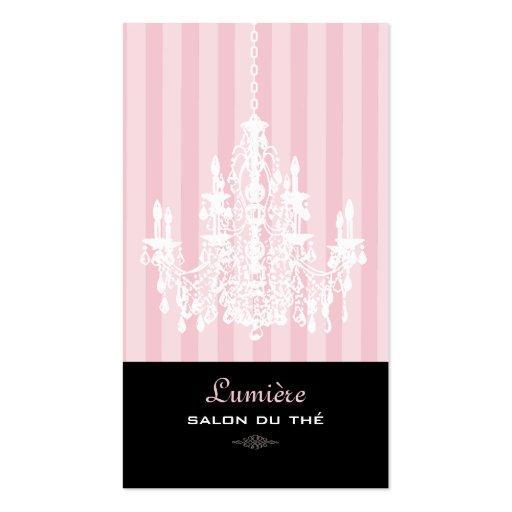 PixDezines Pink+White Chandelier/DIY background Business Card Template