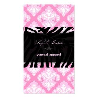 PixDezines Pink+White Olivia Damask/diy background Business Card