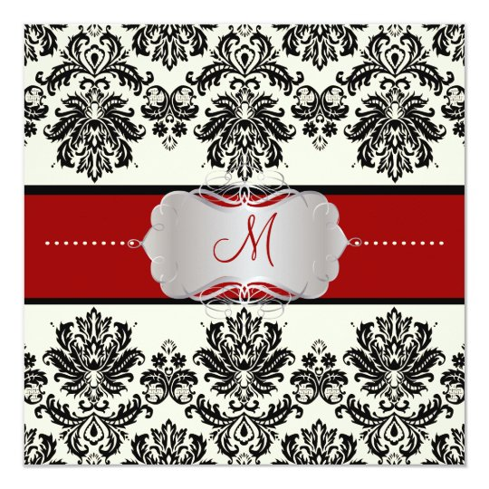 PixDezines Piqué, Damask/DIY color/Black+Off White Card