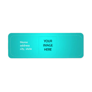 PixDezines Plain Aqua Easy Template Label