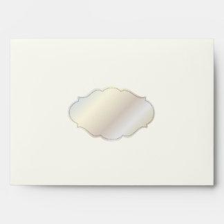 PixDezines Plain Cream+Chartreuse Green /DIY color Envelope