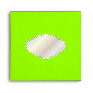 PixDezines Plain/DIY colors/neon green Envelope