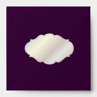 PixDezines Plain with DIY color/eggplant Envelope