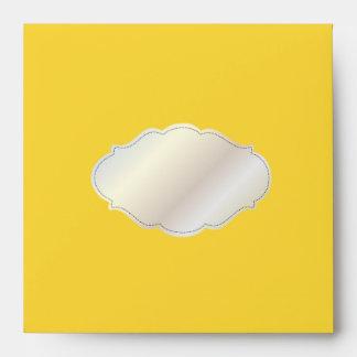 PixDezines Plain Yellow+grey/DIY color Envelope
