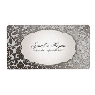 PixDezines platinum flora damask/DIY background Label