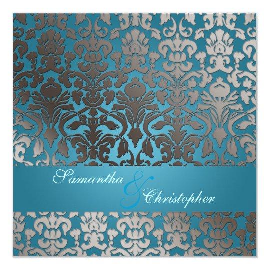 PixDezines platinum flora damask/teal Card