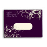 PixDezines Plum Cream Swirls Envelope