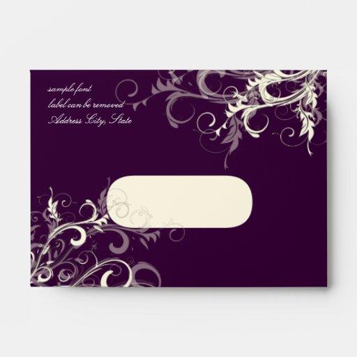 PixDezines Plum Cream Swirls Envelope