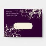 PixDezines Plum Cream Swirls Envelopes
