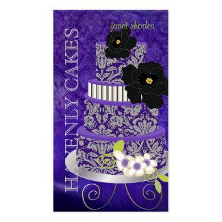 PixDezines Plum Pudding Cake/Bakery/pâtisserie Pack Of Standard Business Cards