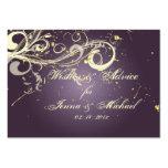 PixDezines Plum Vanilla Swirls, Advice Cards Large Business Card