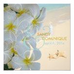 PixDezines Plumeria Lei /beach/starfish tropical Card