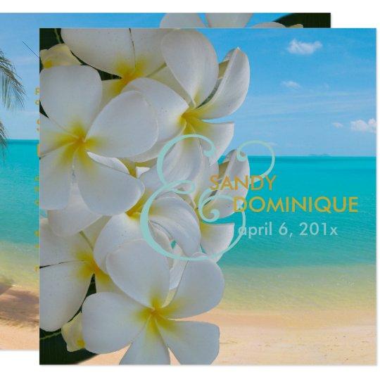 PixDezines Plumeria Lei/beach/tropical wedding Card