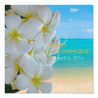 PixDezines Plumeria Lei/beach/tropical wedding Custom Invitations